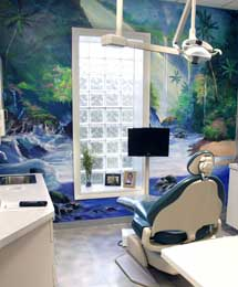 River Exam Room At Dentist Office In North Olmsted Photo - Sikora Family Dentistry